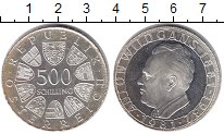 Изображение Монеты Австрия 500 шиллингов 1981 Серебро UNC
