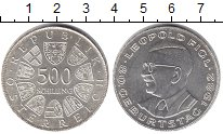 Изображение Монеты Австрия 500 шиллингов 1982 Серебро UNC 80 - летие Леопольда