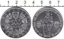 Изображение Монеты Австрия 500 шиллингов 1985 Серебро UNC