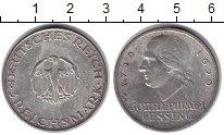 Изображение Монеты Веймарская республика 3 марки 1929 Серебро XF 200 - летие со дня р