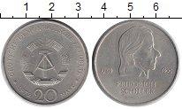 Изображение Монеты ГДР 20 марок 1972 Медно-никель XF Фридрих фон Шиллер