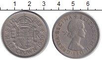 Изображение Монеты Великобритания 1/2 кроны 1959 Медно-никель XF