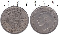 Изображение Мелочь Великобритания 1/2 кроны 1949 Медно-никель