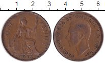 Изображение Монеты Великобритания 1 пенни 1945 Медь XF