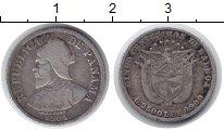 Изображение Монеты Панама 5 сентесимо 1904 Серебро XF Бальбоа.