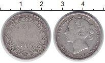 Изображение Монеты Ньюфаундленд 20 центов 1900 Серебро VF