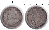 Изображение Монеты Панама 5 сентесимо 1904 Серебро XF