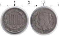 Изображение Монеты США 3 цента 1869 Медно-никель