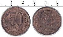 Изображение Монеты Чили 50 песо 1981 Бронза XF Бернардо О. Хиггинс