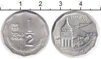 Изображение Монеты Израиль 1/2 шекеля 1984 Серебро UNC- Башня