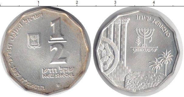 Картинка Монеты Израиль 1/2 шекеля Серебро 1987
