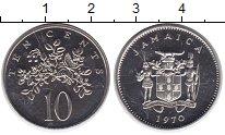 Изображение Монеты Ямайка 10 центов 1970 Медно-никель UNC- Бабочка на цветах
