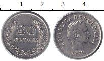 Изображение Монеты Колумбия 20 сентаво 1975 Медно-никель XF Симон Боливар.