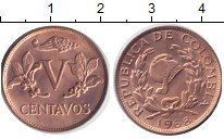Изображение Монеты Колумбия 5 сентаво 1968 Медь XF