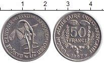 Изображение Монеты Западно-Африканский Союз 50 франков 1997 Медно-никель XF