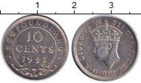 Изображение Монеты Ньюфаундленд 10 центов 1941 Серебро XF Георг VI.