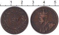 Изображение Монеты Ньюфаундленд 1 цент 1913 Медь XF