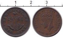 Изображение Монеты Ньюфаундленд 1 цент 1941 Медь XF