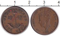 Изображение Монеты Канада Ньюфаундленд 1 цент 1943 Медь XF
