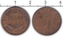 Монета Ньюфаундленд 1 цент Медь 1942 XF фото
