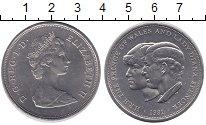 Изображение Монеты Великобритания 25 пенсов 1981 Медно-никель UNC- Елизаветы II.  Свадь