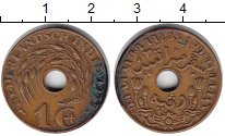 Изображение Монеты Нидерландская Индия 1 цент 1945 Медь VF