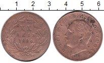Изображение Монеты Португалия 20 рейс 1884 Медь VF
