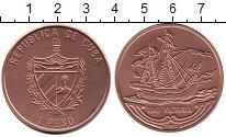 Изображение Монеты Куба 1 песо 1994 Медь XF `Судно ``Виктория```