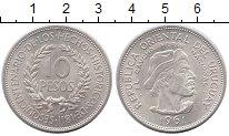 Изображение Монеты Уругвай 10 песо 1961 Серебро UNC-