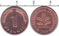 Изображение Монеты Германия 1 пфенниг 2001 Бронза UNC-