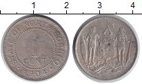 Изображение Монеты Великобритания Борнео 1 цент 1904 Медно-никель XF