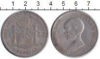 Изображение Монеты Испания 5 песет 1890 Серебро XF