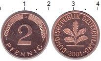 Изображение Монеты Германия 2 пфеннига 2001 Бронза UNC-