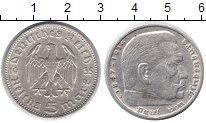 Изображение Монеты Третий Рейх 5 марок 1935 Серебро XF J