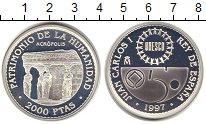 Изображение Монеты Испания 2000 песет 1997 Серебро Proof-
