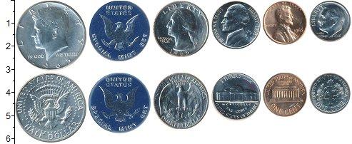 Изображение Подарочные монеты США США 1965 1965  UNC <br>В наборе 5 монет