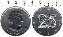 Изображение Мелочь Канада 5 долларов 2013 Серебро UNC- Елизавета II. 25-лет
