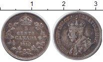 Изображение Монеты Канада 5 центов 1912 Серебро