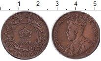 Изображение Монеты Ньюфаундленд 1 цент 1936 Медь XF