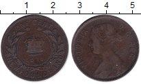 Изображение Монеты Ньюфаундленд 1 цент 1876 Медь