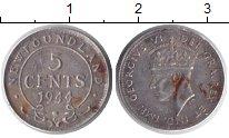Изображение Монеты Ньюфаундленд 5 центов 1944 Серебро