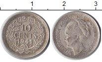 Изображение Монеты Нидерланды 10 центов 1941 Серебро XF Вильгельмина