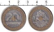 Изображение Монеты Франция 20 франков 1992 Биметалл XF Монт-Сен-Мишель