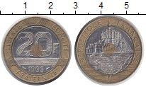 Изображение Монеты Франция 20 франков 1993 Биметалл XF Монт-Сен-Мишель
