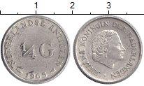 Изображение Монеты Антильские острова 1/4 гульдена 1965 Серебро