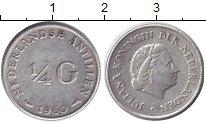 Изображение Монеты Антильские острова 1/4 гульдена 1960 Серебро