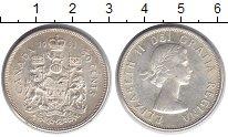 Изображение Монеты Канада 50 центов 1961 Серебро XF Елизавета II