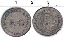 Изображение Монеты Антильские острова 1/4 гульдена 1962 Серебро