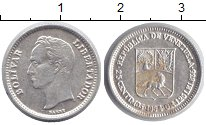 Изображение Монеты Венесуэла 25 сентимо 1954 Серебро XF