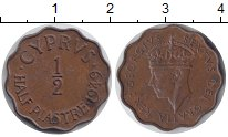 Изображение Монеты Кипр 1/2 пиастра 1949  XF